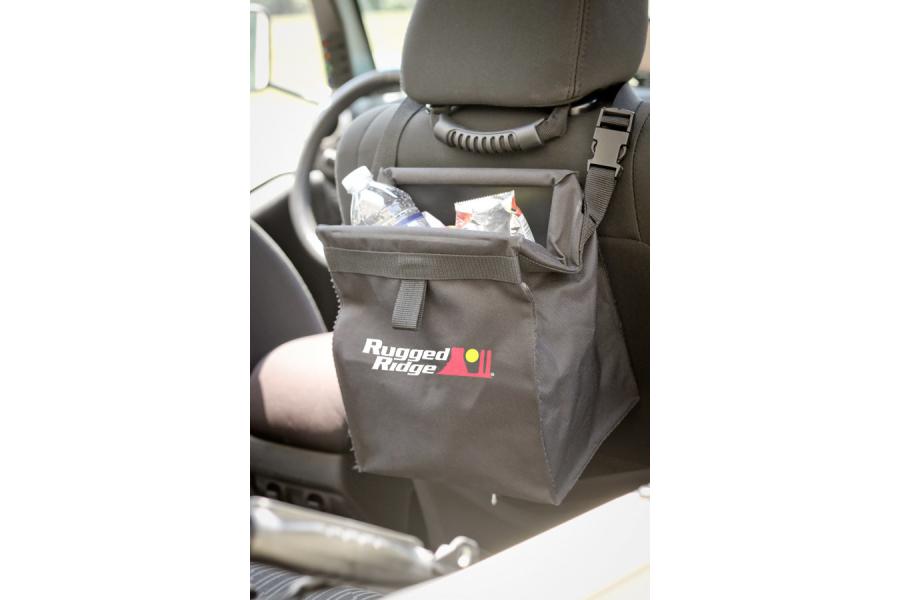 Rugged Ridge Removable Back Seat Trash Bin  - JL/JK