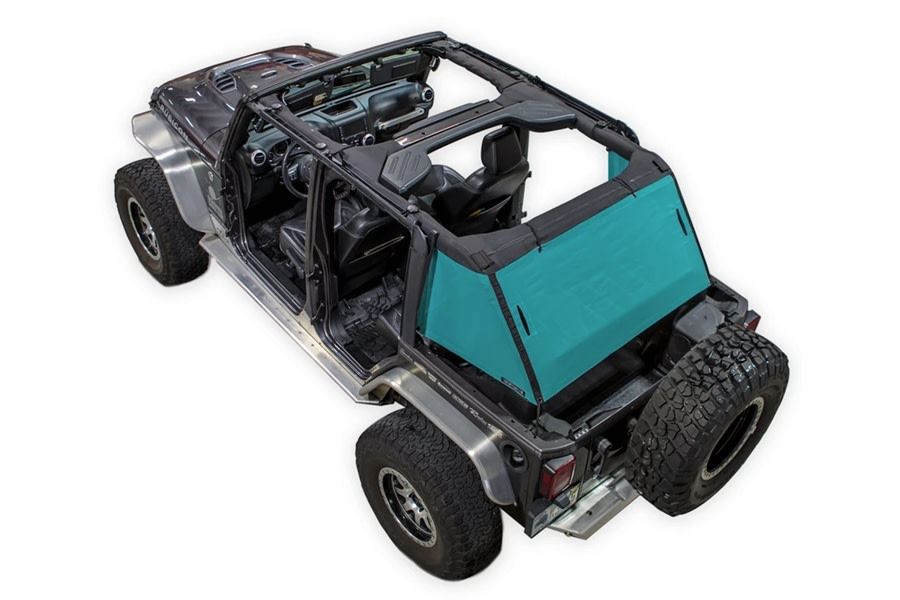 SpiderWebShade 1-Piece Cargo Shade Cover - Teal - JK 4Dr