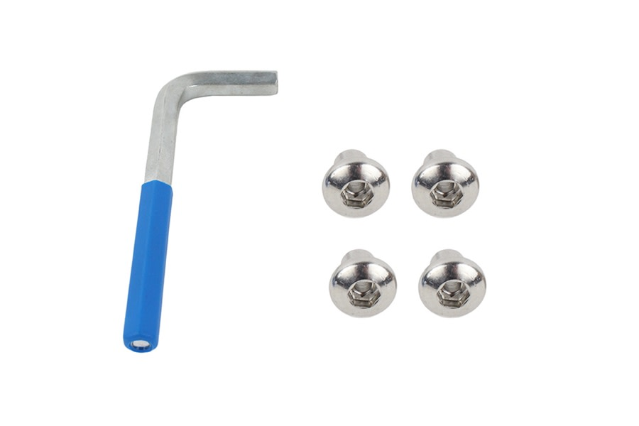 Kentrol OEM Anti-Theft Door Nuts - Polished Silver  - JK 2Dr