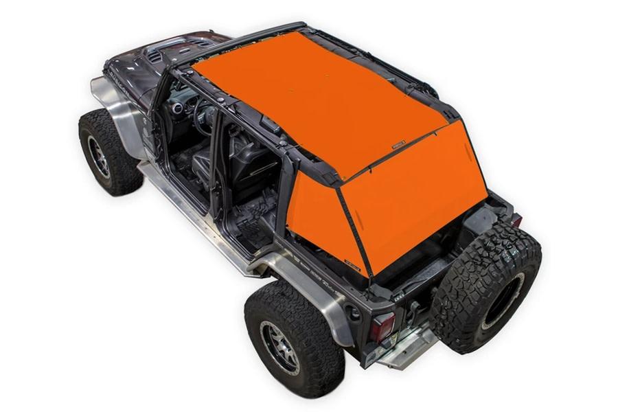 SpiderWebShade 2-Piece ShadeCage System - Orange - JK 4Dr