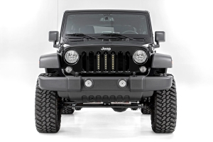 Rough Country 8in Vertical Light Bar Grille Kit - JK