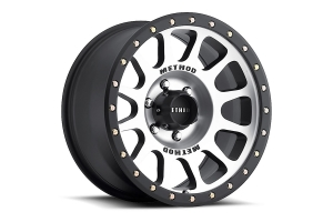 Method Race Wheels 305 NV Series Wheel, 17x8.5 6x5.5 - Black w/ Machined Face  - Ford Bronco