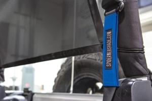SpiderWebShade Seatbelt Silencers - Blue - JK 2Dr