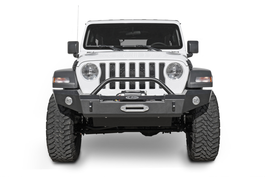 LOD Signature Series Full Width Front Bumper with Bull Bar for Warn Power Plant Winch - JT/JL