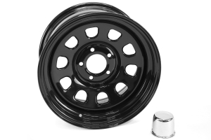 Rugged Ridge D Window Wheel Black 17x9 5x5 (Part Number: 15500.70)