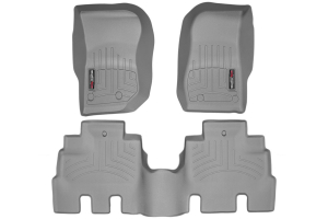 WeatherTech Front and Rear Floor Liner Grey Package - JK 4dr (Part Number: )