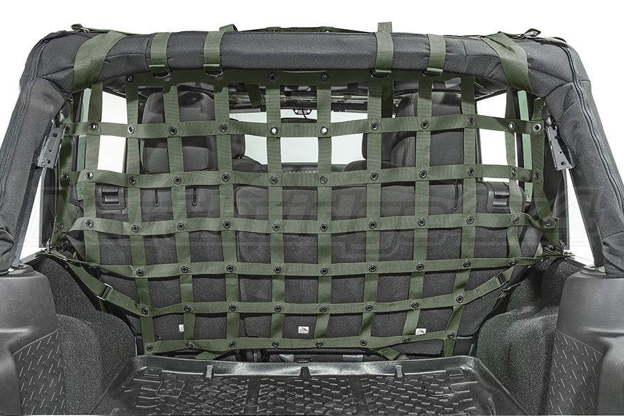 Dirty Dog 4x4 Cargo/Pet Divider Olive Drab Green (Part Number:J4PC07R3OD)