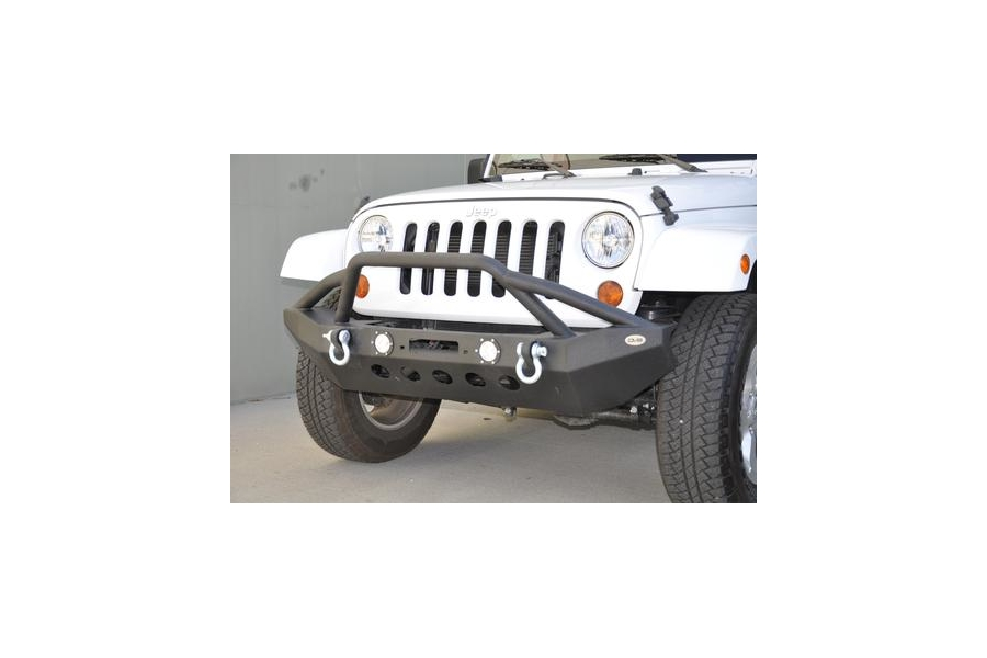 DV8 Offroad FS-8 Front Mid Width Winch Bumper w/LED Lights (Part Number:FBSHTB-08)