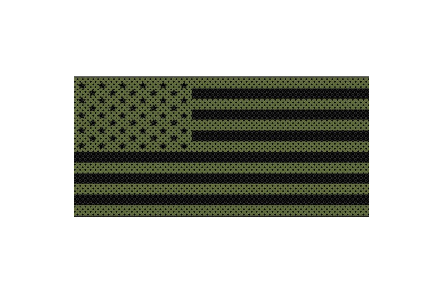 Under The Sun Inserts Olive Drab Old Glory Black Stars And Stripes Grill Insert (Part Number:INSRT-OLVDBLKSS-JL)