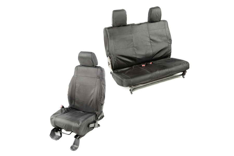 Rugged Ridge Ballistic Seat Cover Set Black (Part Number:13256.05)
