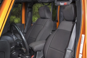Rugged Ridge Seat Cover Kit Black - JK 2dr 2007-10