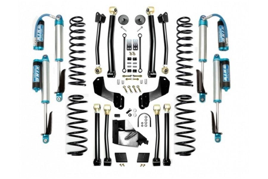 Evo Manufacturing 4.5in Enforcer Overland Stage 4 Lift Kit w/ Comp Adjuster Shocks - JL 4Dr