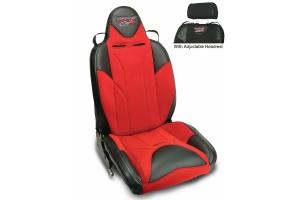 MasterCraft Baja RS DirtSport Reclining Seat w/Adj. Headrest - Black/Red/Red