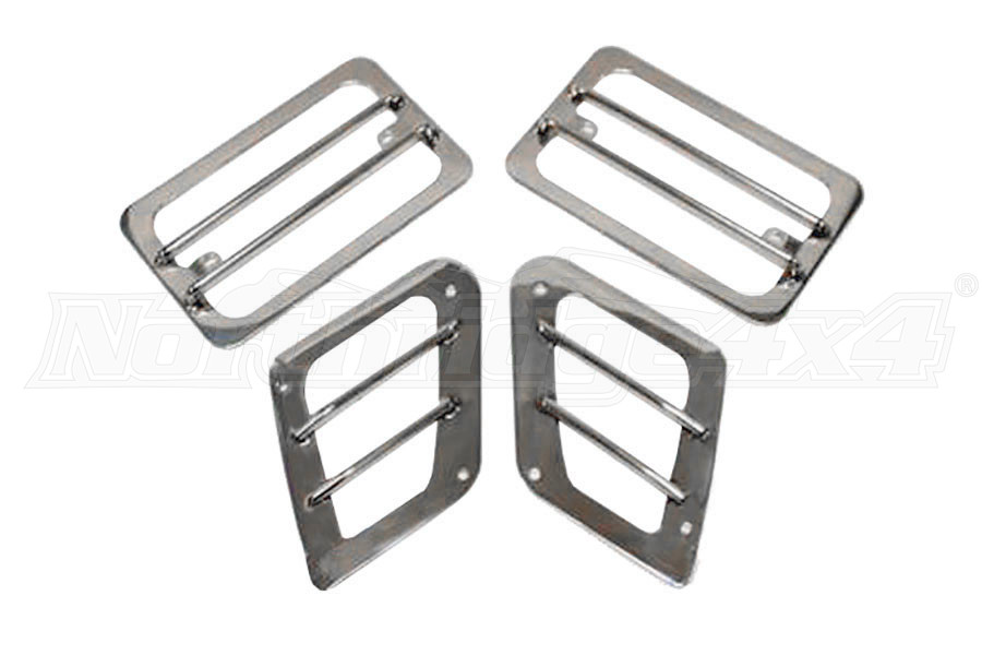 Smittybilt Euro Turn Signal Guards Stainless Steel (Part Number:5470)
