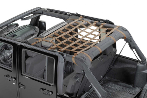 Dirty Dog 4x4 Rear Seat Netting Sand - JK 4DR