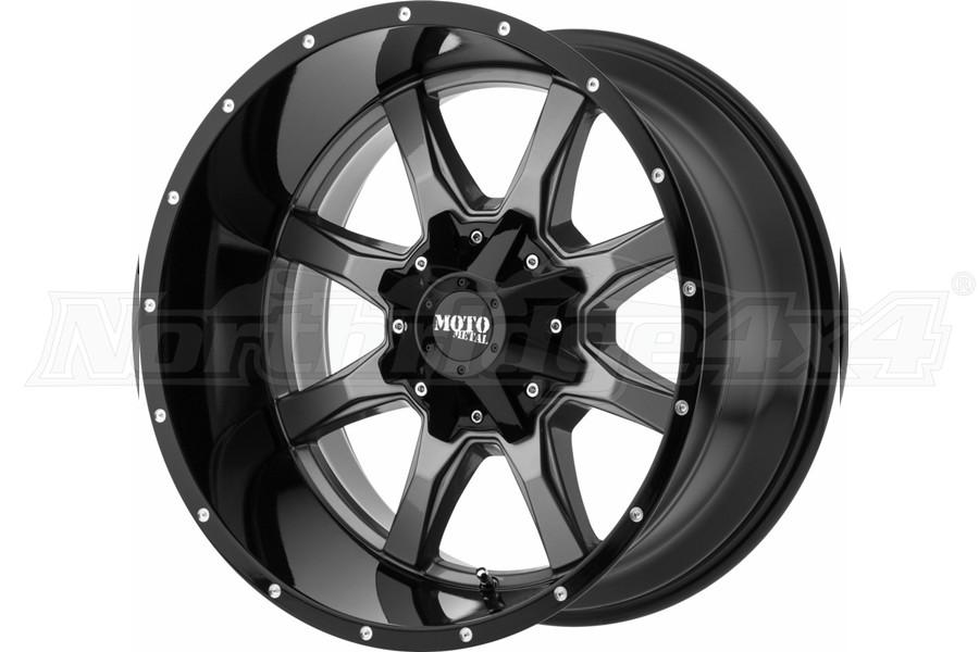 Moto Metal MO970 Wheel 20x10 5x5/5x5.5, Gloss Black/Milled Lip