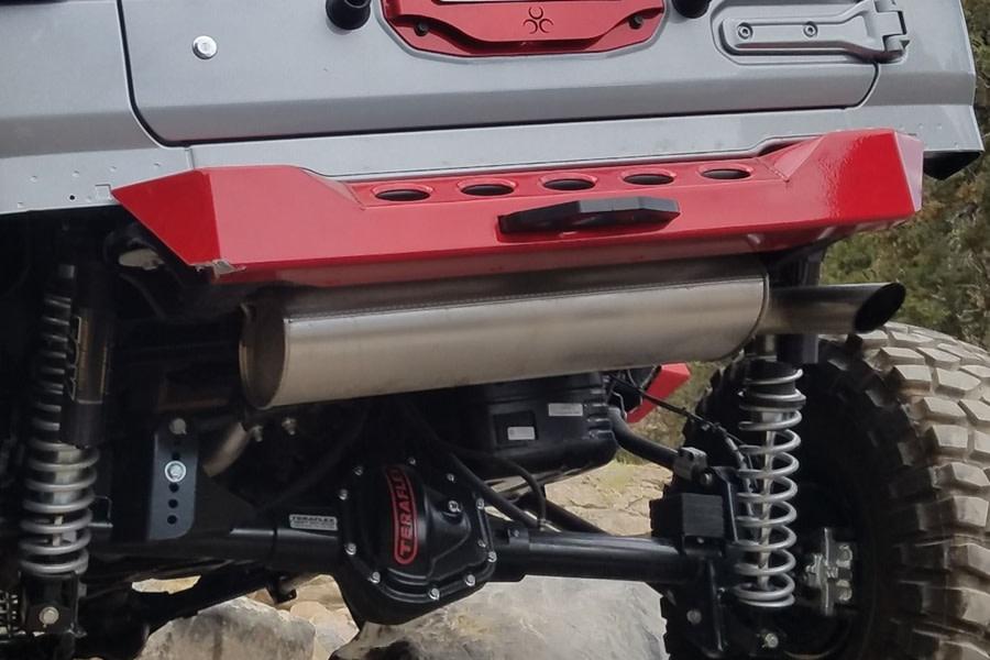 Nemesis Industries Crawler Stubby Rear Bumper w/Shackle Mounts - Aluminum, Bare - JL