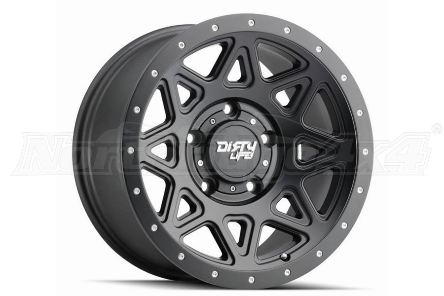 Dirty Life 9305 Theory Series Wheel, Matte Black 18X9 5x5 - JT/JL/JK