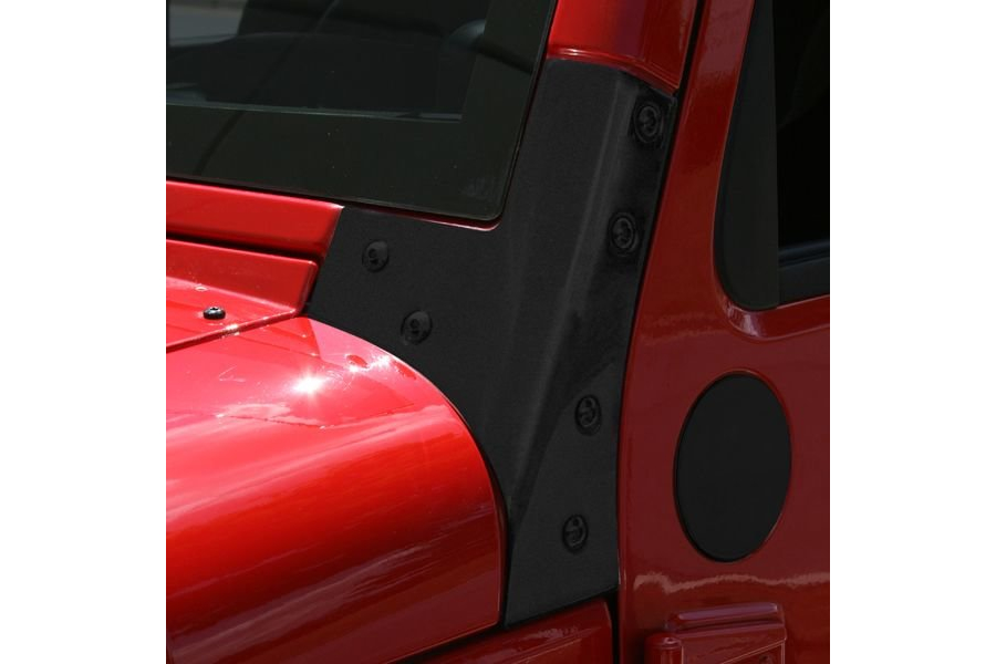 Rugged Ridge Windshield Hinges, Black  (Part Number:11209.03)