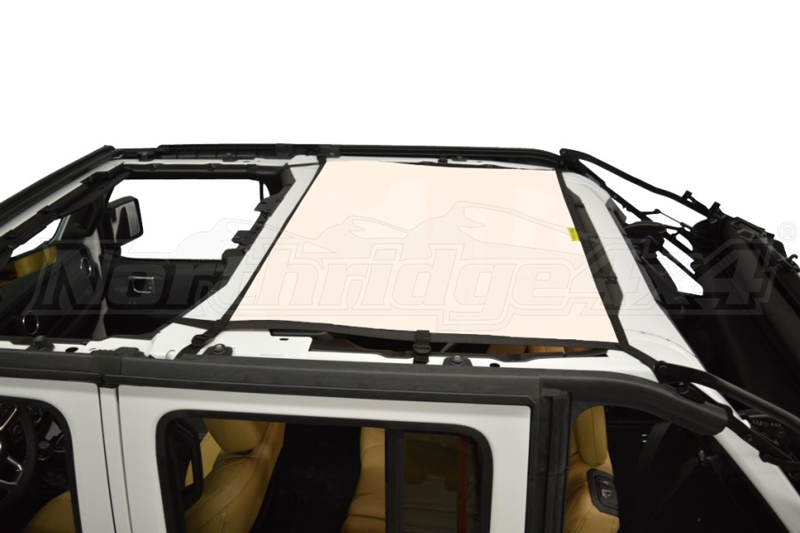 Dirty Dog 4x4 Sun Screen Rear - Sand (Part Number:JL4S18R1SD)