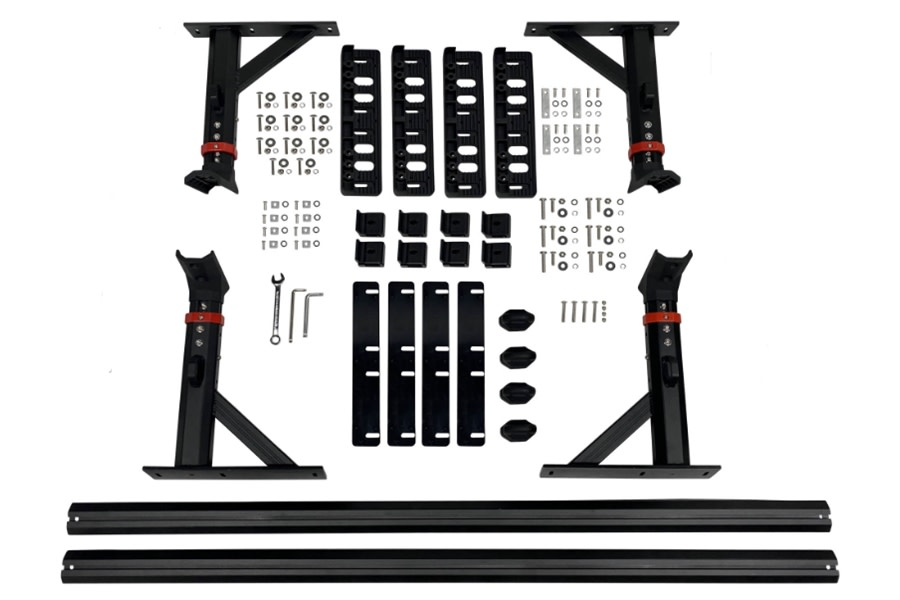 Overland Vehicle Systems Freedom Rack Cross Bars and Side Supports