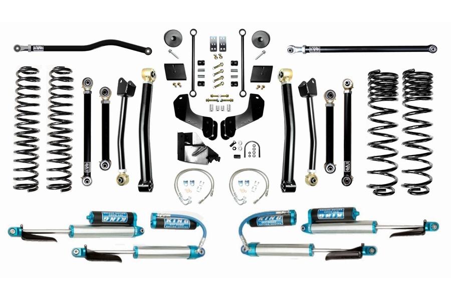 EVO Manufacturing 6.5in Enforcer Overland Stage 4 Plus Lift Kit w/ Comp Adjusters - JT Diesel
