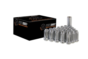 West Coast 8 Lug 14X1.5 Closed End Lug Nuts, Chrome 32 pieces