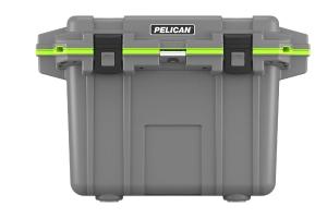 Pelican 70QT Elite Cooler- Dark Gray/Green