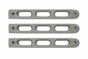 DV8 Offroad Silver Slot Style Door Handle Inserts, Set of 3 - JK