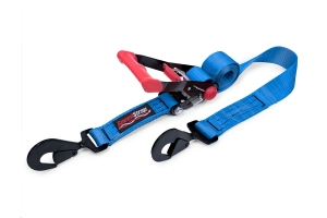 SpeedStrap 2in x 8ft Rachet Tie Down w/ Twisted Snap Hooks, Blue  (Part Number: )