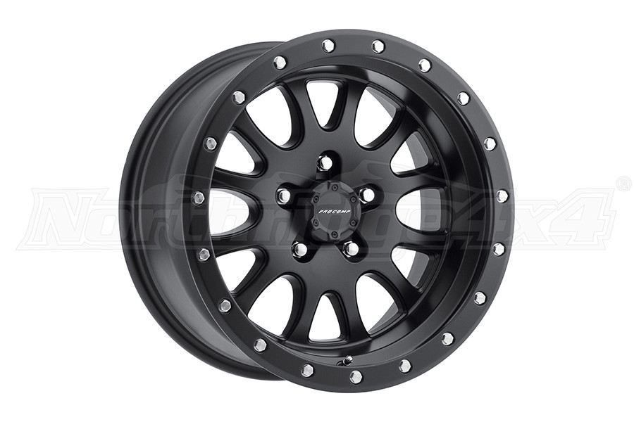 Pro Comp Series 44 Syndrome Satin Black 17x9 5x5 (Part Number:5044-7973)