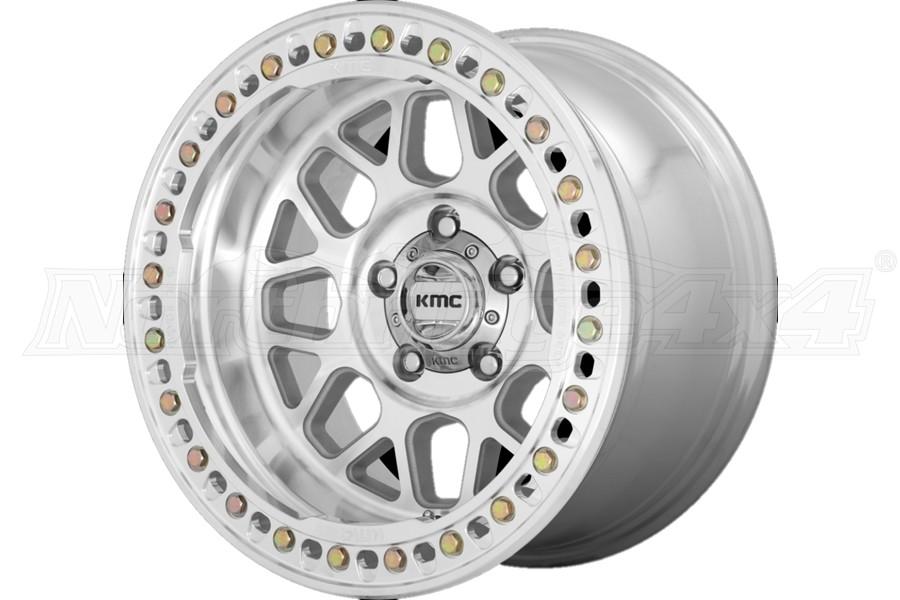 KMC Wheels KM235 Grenade Crawl Series Wheel, 17X9 8X6.5 - Machined - JT/JL/JK