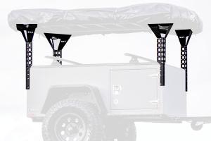 Freespirit Recreation Adventure Series 60in Roof Top Tent Trailer Towers, Black