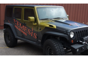 Nemesis Industries Odyssey Front Flare, Texture Black Powder Coating - Aluminum  - JK