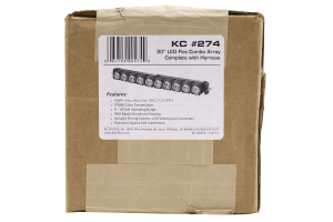 KC HiLites 20in Flex Array LED Light-Bar Expandable Spot/Spread Pattern (Part Number: )
