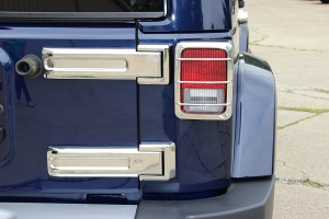 Kentrol 4-Pieces Tailgate Hinge Overlay Kit - Polished Silver  - JK