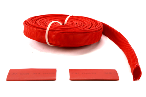 Bulldog Winch Wire Sheathing - 25ft x 1/2in, Red