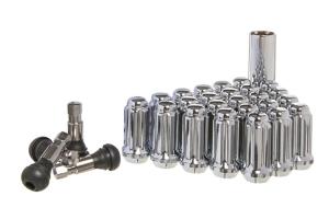 West Coast 5 Lug 14x1.5 Spline Closed Lug Nuts, Chrome 24 pieces - JT/JL
