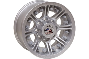 Hutchinson Rock Monster Beadlock Wheel, Silver 17x8.5 8x6.5