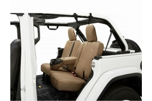 Bestop Rear Seat Cover w/ Fold Down Arm Rest, Tan - JL 4Dr