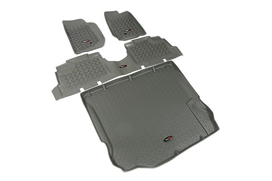 Rugged Ridge Floor Liner Kit, Gray (Part Number:14988.04)