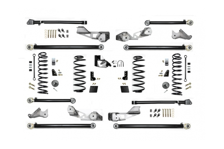 EVO Manufacturing 3.5in High Clearance Long Arm Lift Kit w/Shock Extensions - JL 4dr
