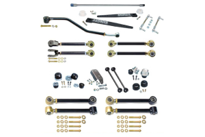 Currie Enterprises Johnny Joint 4in Suspension w/AntiRock Sway Bar and Adjustable Upper Arms, No Springs or Shocks - TJ/LJ