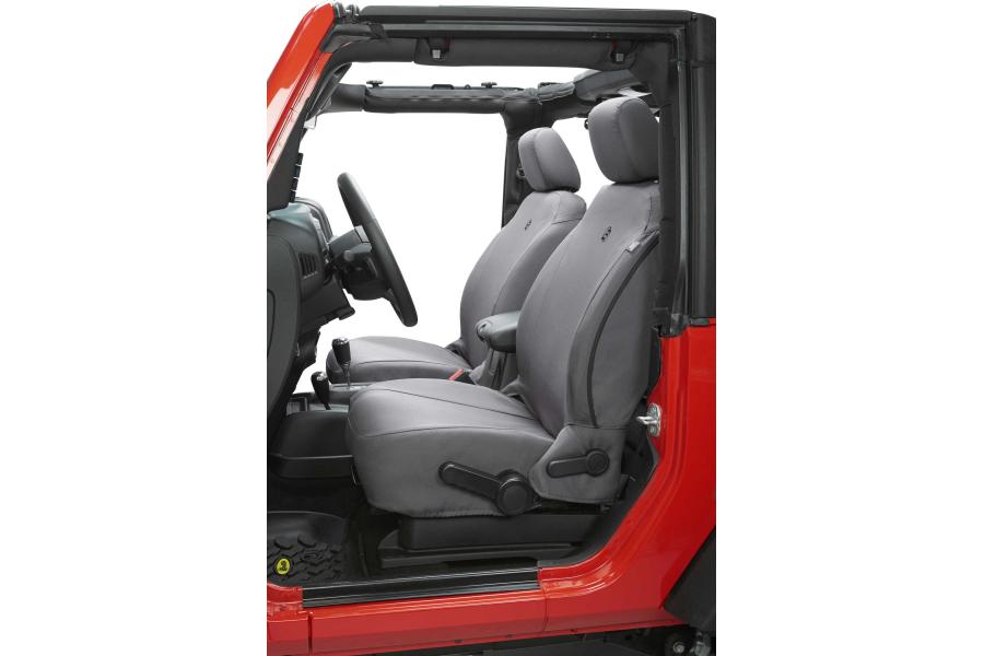 Bestop Front Seat Covers Charcoal - JK 2007-12