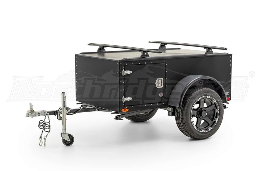 Freespirit Recreation Sport Trailer w/Rhino Vortex 65 Kit, Black