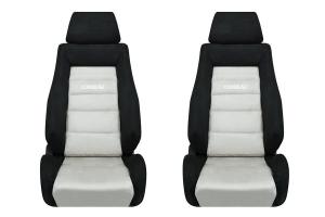 Corbeau GTS II Black / Grey Microsuede Seat Pair