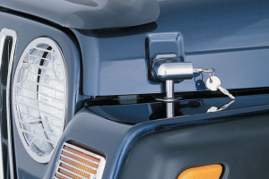 Smittybilt Locking Hood Catch Kit Chrome (Part Number: )