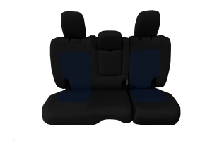 Bartact Tactical Rear Seat Cover w/Fold Down Armrest Black/Navy - JL 4dr