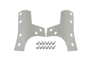 Kentrol Windshield Support Overlay Set - Polished Silver  - JK