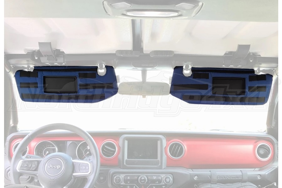 Bartact Visor Covers w/ PALS Webbing for MOLLE Attachments - Navy - JL - for Visors w/ Mirrors